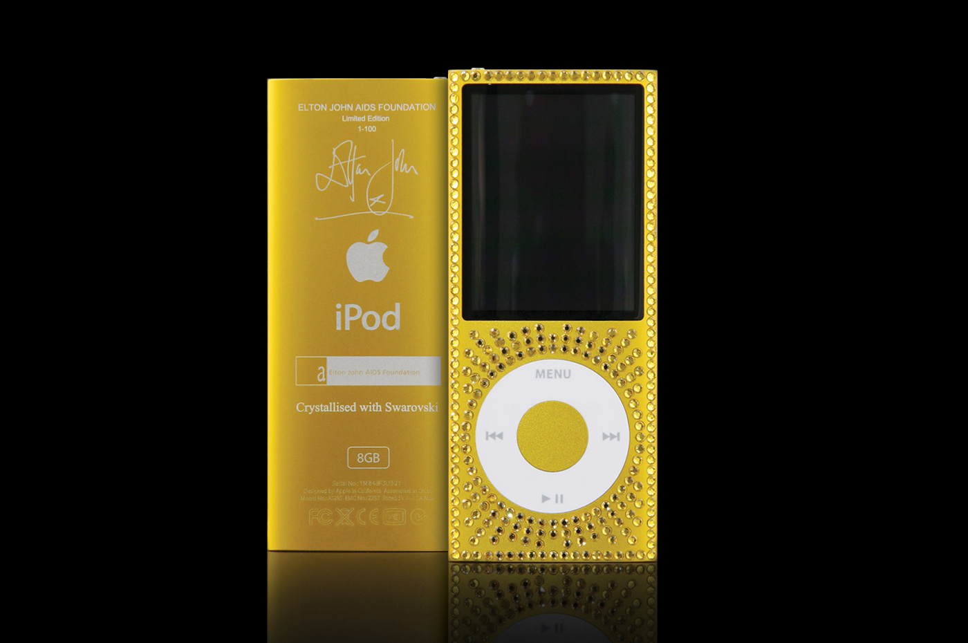 Goldgenie - Customised iPod for Elton John Aids Foundation