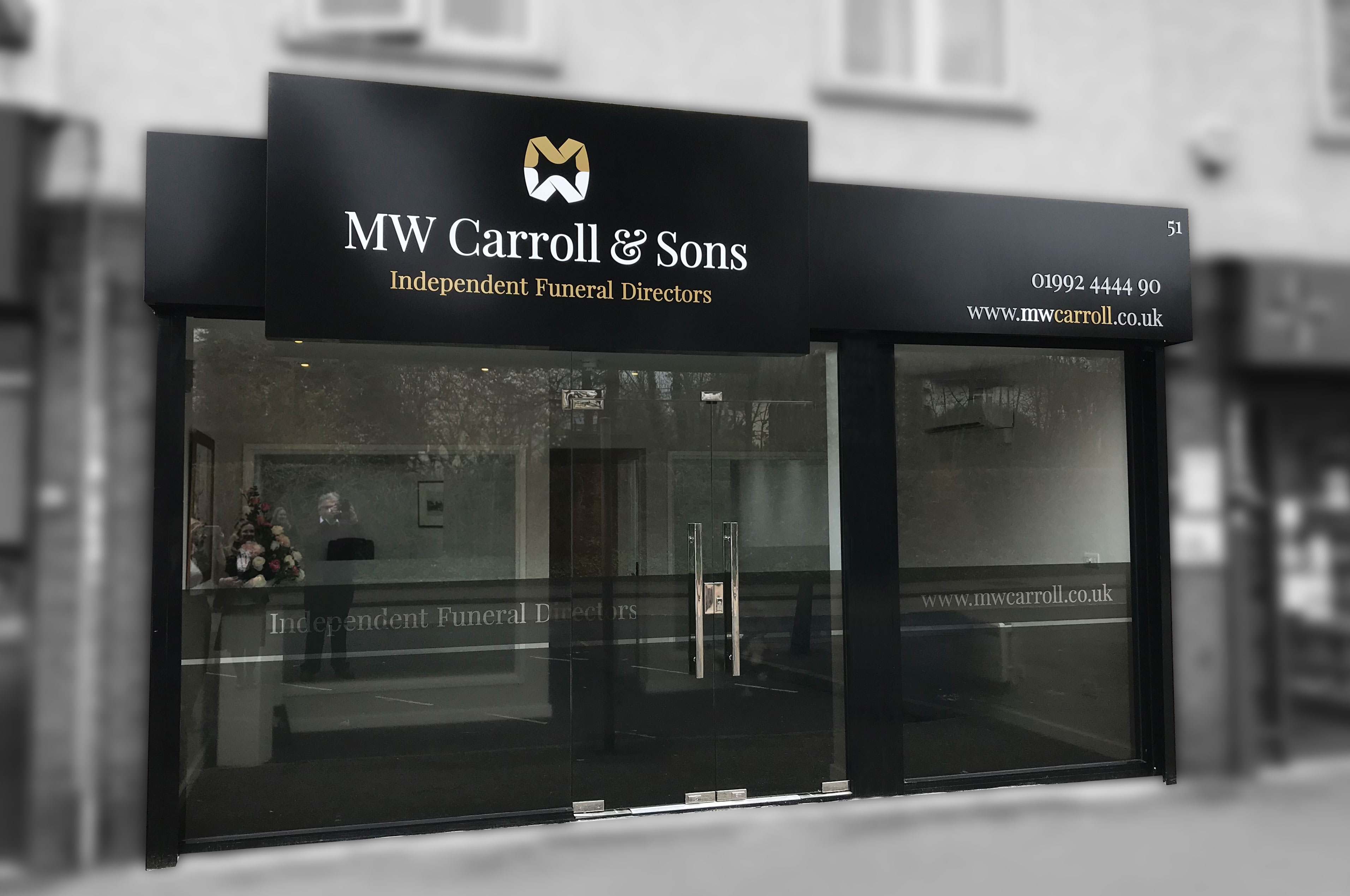 MW Carroll & Sons - Shopfront Signage